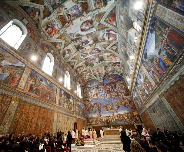 Pope Celebrates Baptisms In The Sistine Chapel